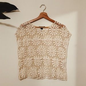 Crocheted Floral Top